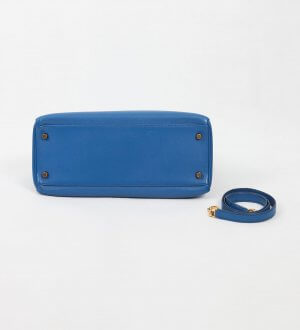 Hermes Kelly 32 Blue France