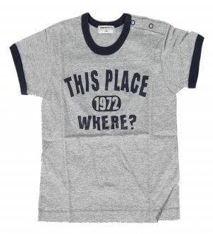 Kids round neck t-shirt in grey