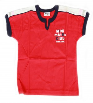 Kids round neck t-shirt in red