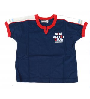Kids round neck t-shirt in navy