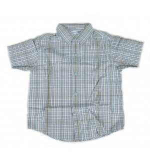 Kids checkered pattern shirt with collar