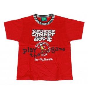 Kids round neck t-shirt in red