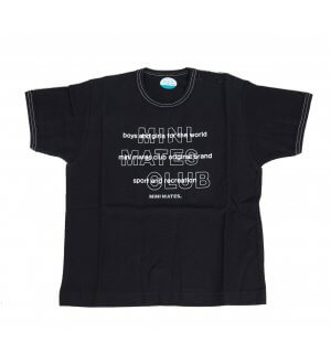 Kids round neck t-shirt in black