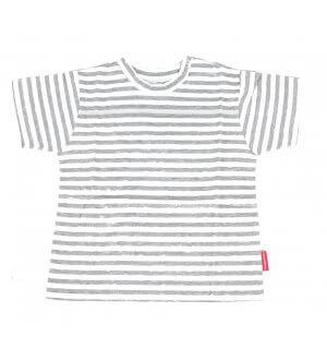 Kids round neck t-shirt in grey stripes