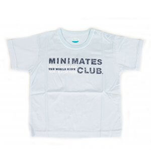 Kids round neck t-shirt in light blue