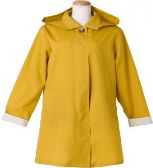Ladies Soutien Collar Raincoat in Sunny Yellow