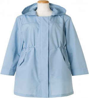 Ladies Raincoat without collar in Sky Blue