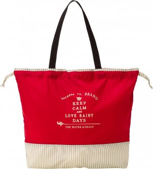 Ladies Rain Bag Red Beige