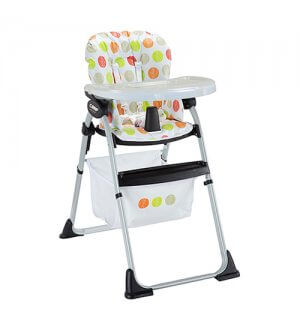 High Chair C/W Inner Tray - Orange Circle