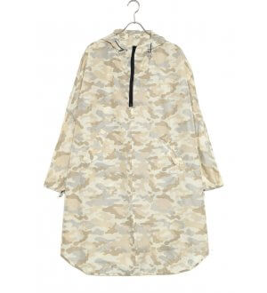 Ladies Rain Poncho with Visor in grey camoflouge prints