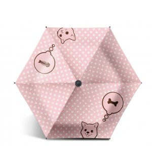 Umbrella Label 99.9%UV Blockout Cat & Dog