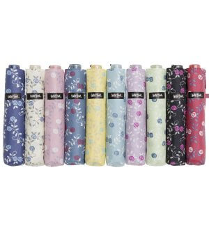 Waterfront 90% UV cut slim floral umbrella