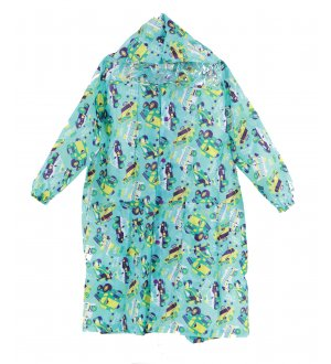 Kids Raincoat Go Go Machine Turquoise