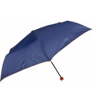 Shizuku Navy With Trim Umbrella