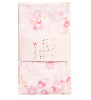 Japan Wafuka Floral Face Towel
