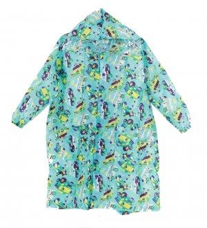 Kids Raincoat Go Go Machine Turquoise