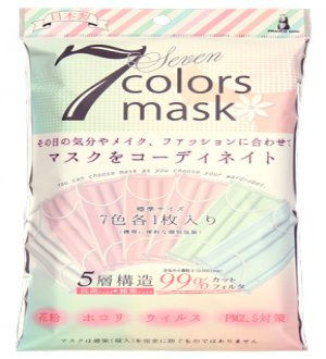 Japan 5-Layers 7 Colours Mask