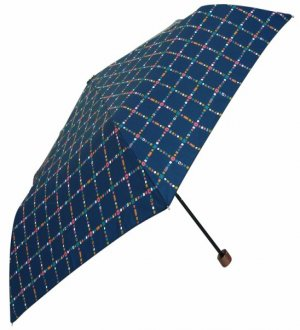 Shizuku Navy With Checks Umbrella