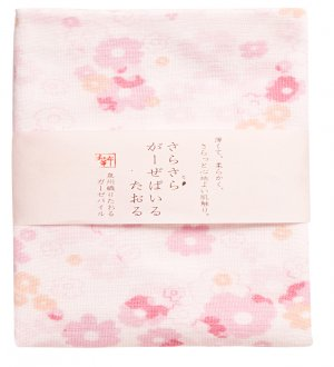 Japan Wafuka Floral Face Towel