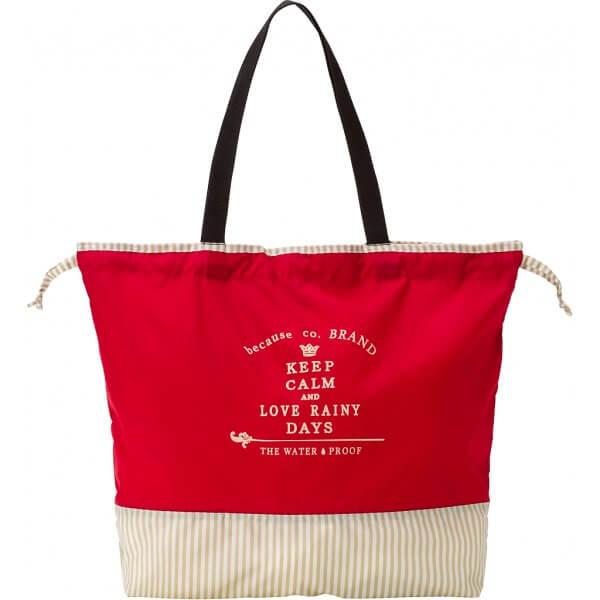 Ladies Rain Bag Red Beige
