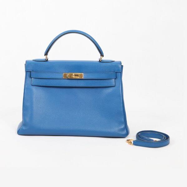 Hermes Kelly 32 Blue France