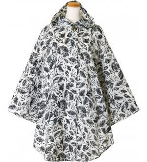 Ladies Poncho in leaf prints