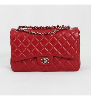 Chanel Jumbo Red Caviar