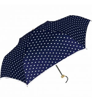 Japan 99% UV Polka Dots Silver Coating Folding Umbrella