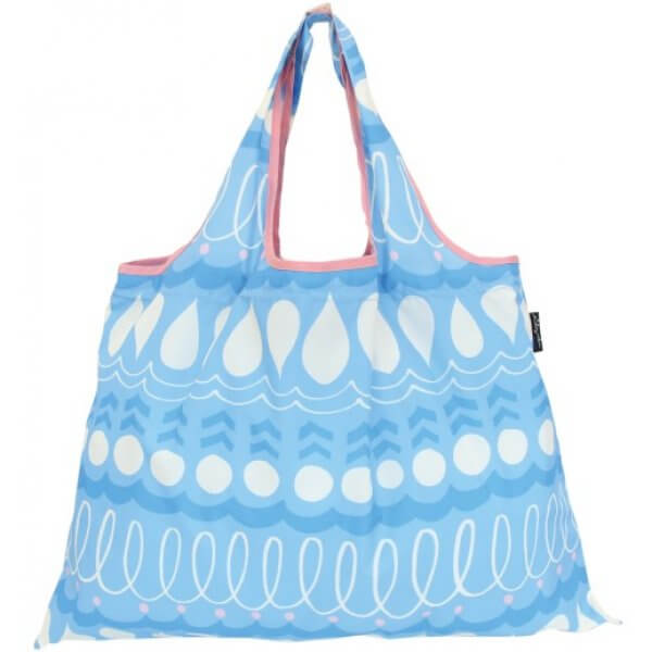 Shizuku Light Blue Droplets Shopping Bag
