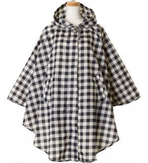 Ladies Poncho in checks