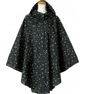 Ladies Poncho in little stars