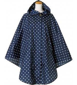 Ladies Poncho in polka dots