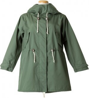 Ladies Field Raincoat in Green