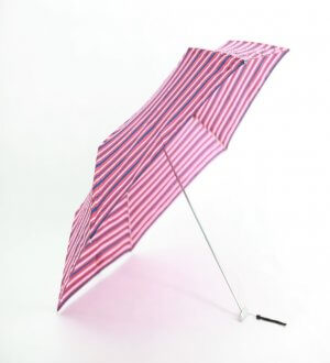 Waterfront Flat Folding Umbrella Colourful Stripes